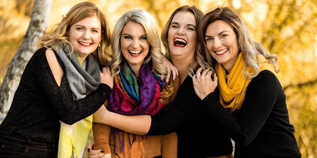Líčení na rodinné focení, čtyři sestry