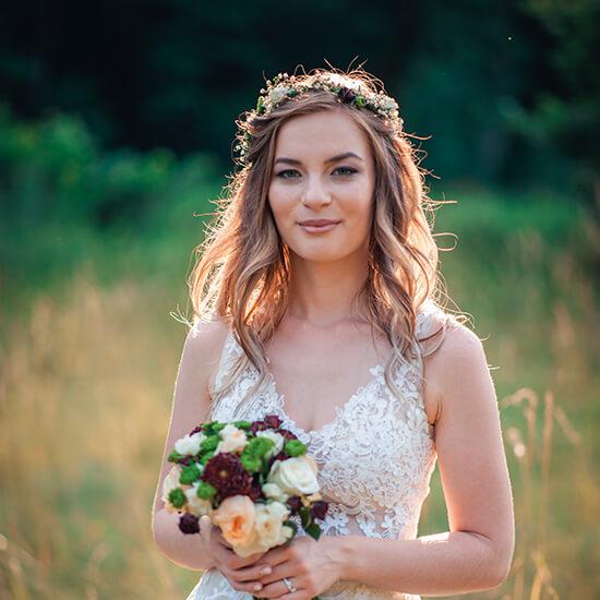 Romantická boho nevěsta