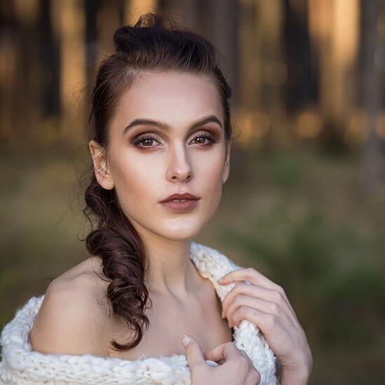 portrét diva v lese