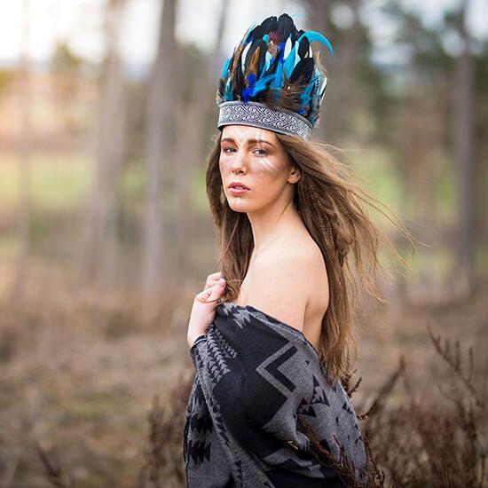 makeup indiánka šamanka